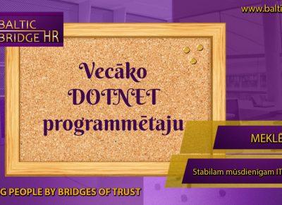 DOTNET PROGRAMMĒTĀJS/A