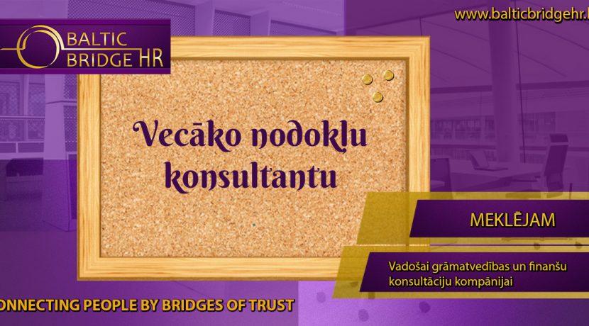 VECĀKAIS/Ā NODOKĻU KONSULTANTS/E